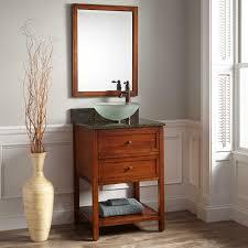 24 Inch Sink Cabinet Antique Cherry Vanity With Mirror Bathroom 24 Robertson Vessel