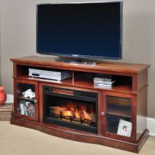 walker infrared electric fireplace entertainment center in cherry 25mm5326 c245