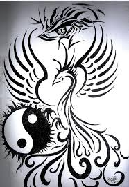 Drawings Of Phoenix Phoenix With A Dragon Eye Drawing By Almira Gepte