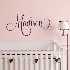 all decals girls wall decals madison girls name script wall decal