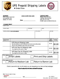 Online Shipping Labels Fillable Online Wvdl Wisc Ups Prepaid Shipping Labels Wvdl Wisc