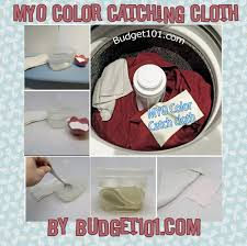 Homemade Laundry Color Catcher Sheets Prevent Color Bleed In