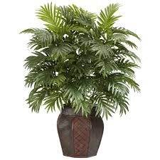 Decorative Indoor Trees Silk 38 Inch Potted Areca Palm Plant Free Shipping Today