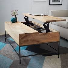 Retractable Coffee Table Storage Alluring Leather Coffee Table With Hidden Storage To Keep