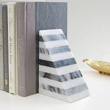<b>Striped</b> Angle <b>Geometry</b> Bookend, Decorative Accents