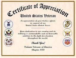 Military Certificate Of Appreciation Template Unique Appreciation Award Certificate Sample Best Of Veteran Certificate