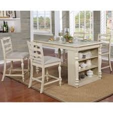 kitchen island table. Furniture Of America Jeanine Antique White 5-Piece Farmhouse Kitchen Island Set With Built- Table