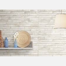 london white brick wall tile roomset