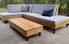 modern custom wood coffee table