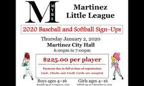 Martinez Youth Baseball And Softball Home