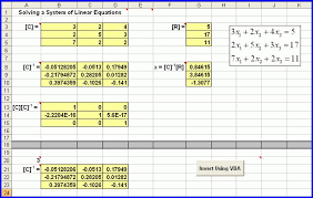 solve system of equations excel 2010 jennarocca solving simultaneous linear