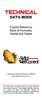 Well Control Formulas Charts And Tables Free Download Drilling Technical Data Book