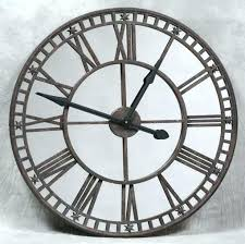 wall clocks large bronze antique clock with mirror face outdoor very