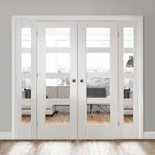 white double door. White Easi-Frame Room Divider Doors System Double Shaker 4 Pane Door
