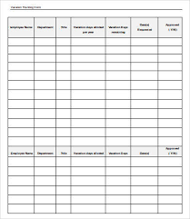 Employee Vacation Tracker Template 5 Free Word Pdf