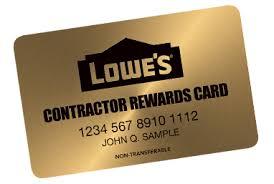 lowes contractors list.  Contractors Loweu0027s Contractor Rewards Card For Lowes Contractors List A