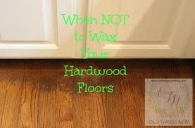 how to clean and wax old hardwood floors