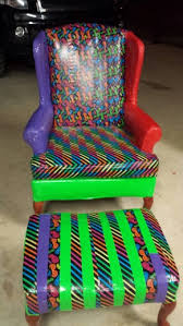 duct tape furniture. Duct Tape Repurpose On Wingback Chair! Furniture M
