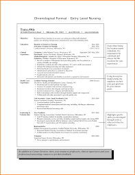 Resume Entry Level Rn Resume Examples