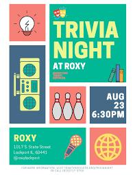 Trivia Night At Roxy Trinity Services