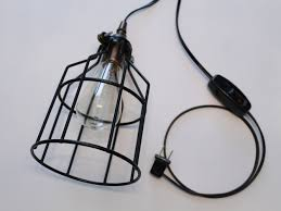 plug in industrial lighting. Image Of: Plug In Swag Lamp Industrial Lighting G