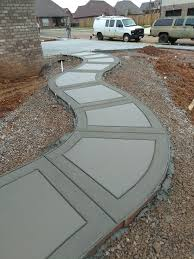 Concrete Path Designs Sidewalk In 2019 Concrete Patio Concrete Patio Designs