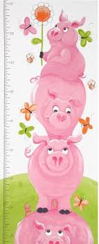 Pig Growth Chart Flip The Pig Pink Pig Growth Chart Panel Sb20175 520
