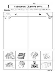 Phonics helps students learn to identify relationships between words and sounds. Consonant Cluster Bl And Br Picture And Word Sorting Worksheets Tpt