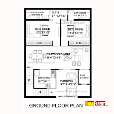 house plan for 30 feet by 40 plot size 133 square yards plans first floor 9172016101