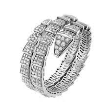 uk bvlgari serpenti bracelet white gold double helix covered with diamonds br855118 replica