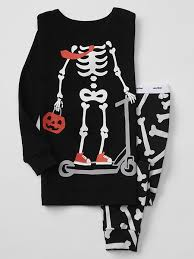 Gap Halloween Skeleton Sleep Set Little Girl Fashion