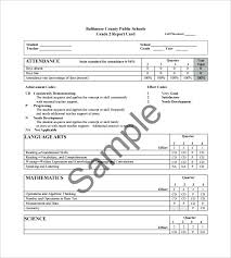 Student Report Card Template Student Report Card Template Self Format Pdf