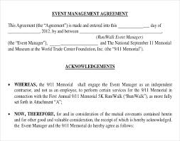 Event Planning Services Agreement Sample Contract For Event Planning Services 5 Blank Invoice