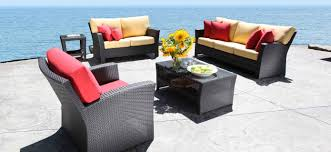 outdoor wicker patio furniture bimini conversation set in toronto