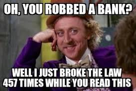 Did you just share a meme? Slow down, criminal..   Jessicca Naous via Relatably.com
