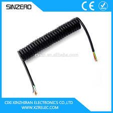 trailer tructor coiled cable spiral coiled wire cable spring truck trailer tructor coiled cable spiral coiled wire cable spring truck cable tpu trailer
