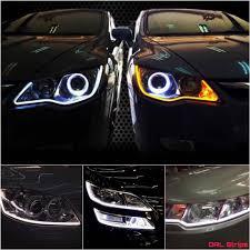 How To Install Flex Led Lights In Car Car Drl Flexible Led Night Daytime Running Light Strip S
