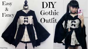 easy diy gothic emo inspired outfit dress back to school outfits review you