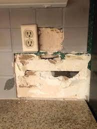 removing tile backsplash how do i remove tile backsplash without damaging drywall