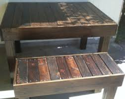 pallet furniture etsy. reclaimed wood pallet occasionaldining bench louisiana furniture etsy