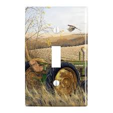 Tractor Light Switch Cover Graphics More Tractor On The Farm Plastic Wall Decor