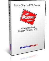 details about milwaukee road chicago division track chart 1973 pdf on cd railfandepot