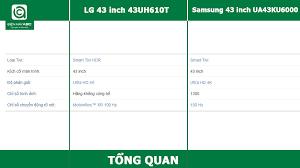 So sánh Tivi LG 43 inch 43UH610T và Tivi Samsung 43 inch UA43KU6000