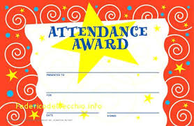 Attendance Award Template Free Attendance Certificate Template Printable Certificates