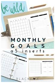 Design Your Own Planner Inserts Agenda Planner Printable Monthly Goals A5 Filofax Goal