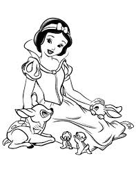 Small Picture Snow White Talking to Her Jungle Friends Coloring Page Color Luna