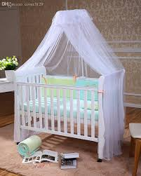 Wholesale-Beautiful Baby Bed Canopy Mosquito Net,Child Bed Tent,Bed Curtains Canopy,Baby Toddler Bed Crib Canopy Netting White Pink Yellow