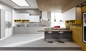 Yellow Kitchen White Cabinets Contemporary Kitchen New Contemporary Kitchen Remodel Design