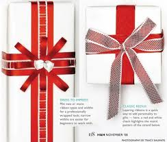 ribbons on gifts
