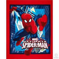 100% COTTON Ultimate Spider-man Quilt fabric panel & Ultimate Spider-man Panel Adamdwight.com